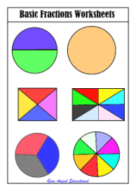 Fundamental free fraction lessons and practice worksheets grade 1