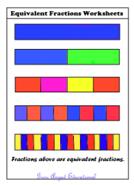 Free equivalent fractions lessons and printable worksheets